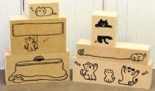 ネコがじゃれじゃれ…「ねこずかん」の「印鑑はんこSHOPハンコズ」から「おなまえーるDECO」発売!