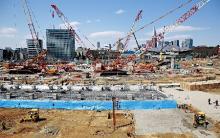 新国立の建設現場公開
