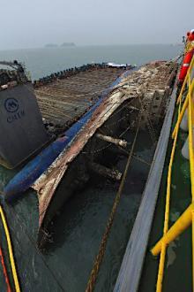 セウォル号、運搬船に積載=韓国