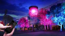 第33回全国都市緑化よこはまフェアでチームラボの「人と木々とクリスタル花火」が開催