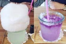 ふわふわの淡雪みたい♡お茶をかけると色が変わる「わたあめレモネード」がフォトジェニック