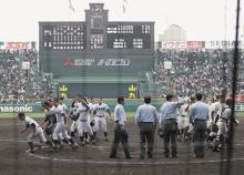 互いに譲らず引き分け=高校野球・福岡大大濠-滋賀学園