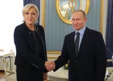 プーチン氏、ルペン氏と会談=仏大統領選へ思惑-ロシア