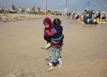 避難民、20万人超える=対IS作戦続くモスル西部-イラク