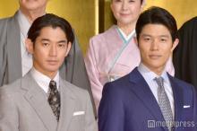 瑛太、初共演の鈴木亮平を「電車のホームで見かけた」時のエピソードに報道陣笑い