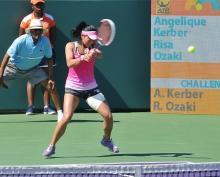 尾崎、4回戦敗退=青山組も敗れる-マイアミ・テニス