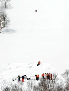 ドローンで現場の状況確認=参加者からも聴取-栃木スキー場雪崩