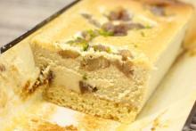 大人の濃厚チーズケーキ。成城石井「マロンといちじくのプレミアムチーズケーキ」はワインにもぴったり