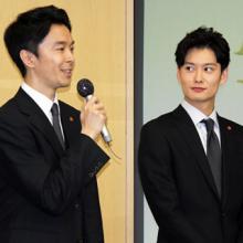 TBS入社式、長谷川博己と岡田将生が新入社員にエール
