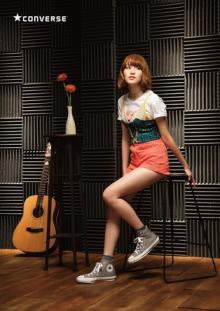越野アンナ(anderlust)&石崎ひゅーいが『CONVERSE ALL STAR 100』CMで熱唱