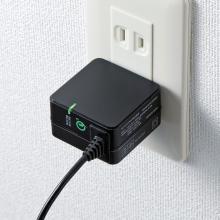 サンワ、QC3.0対応のUSB Type-Cケーブル一体型AC充電器を発売