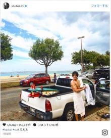 三浦翔平、ハワイでムッキムキな肉体美を披露「ちょっとやだ、筋肉もりもり!」