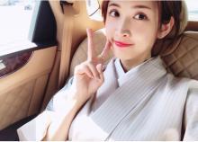 紗栄子、着付けを習い和服姿を公開「大和撫子~」の声