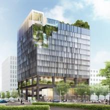 博多駅筑紫口駅前に新ランドマーク「(仮称)近鉄博多ビル」建設--2019年開業