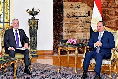 エジプト大統領と会=米国防長官