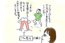 「何やっとんねん!」雨粒と戦い、服を下から脱ぎ、お尻を出す…。母が青ざめる5歳男児の奇行 by カフカヤマモト