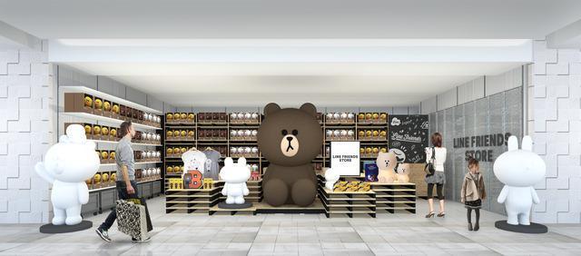 LINE FRIENDS、ブラウンが渋谷の街に初登場。東急百貨店東横店にてポップアップストアをオープン