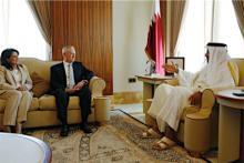 カタール首長と会談=米国防長官