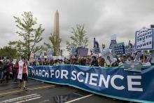 科学者、世界各地でデモ=米大統領らの言動に危機感