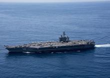 海自と米空母、共同訓練開始=沖縄南方、フィリピン海で-数日間実施、北朝鮮けん制