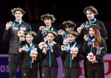日本、3大会ぶり優勝=三原がフリー2位-国別対抗フィギュア
