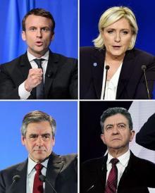 4候補、歴史的接戦=第1回投票実施-仏大統領選