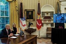 トランプ大統領、宇宙と交信=米国人滞在新記録の女性飛行士祝福