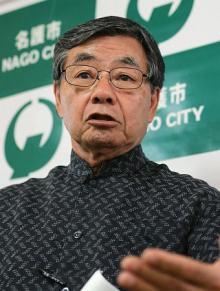 「政府のやり方許せない」=辺野古護岸工事-沖縄・名護市長