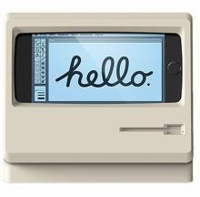 クラシカルなマック風のiPhoneスタンド「M4 STAND」、スマホ横挿しで動画視聴も可能