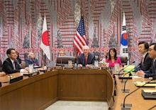対北朝鮮で緊密連携=日米韓外相が確認