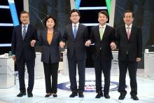 THAAD配備で論戦=大統領候補がTV討論-韓国