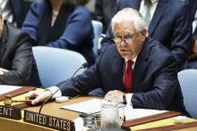 日韓への核攻撃「現実的脅威」=米長官、北朝鮮との外交凍結要求-安保理閣僚級会合
