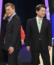 文氏、安氏引き離す=TV討論影響か-韓国大統領選
