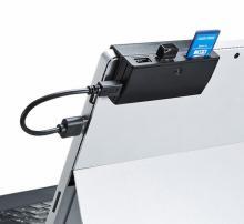 サンワサプライ、タブレットに直接取り付けられるハブとカードリーダー発売