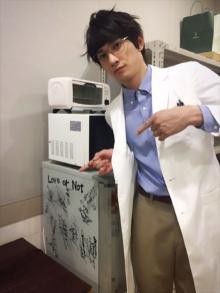 町田啓太、山下健二郎、八木将康とひとパーバックに記念撮影!