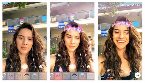 Instagram、顔フィルターや逆再生動画撮影などの新機能追加