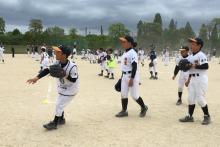 歴史ロマンあふれる琵琶湖のほとりで新たな闘い 滋賀でキャッチボール競技