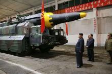 """北朝鮮、弾頭再突入成功か=14日の<span class=""""hlword1"""">ミサイル発射</span>-米報道"""