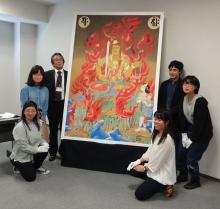 不動明王像を復元模写=京都・醍醐寺の仏教絵画