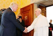 米大統領、ローマ法王と会談