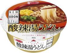 黒酢の酸味と香辛料の辛み!酸辣湯スープの創作うどん