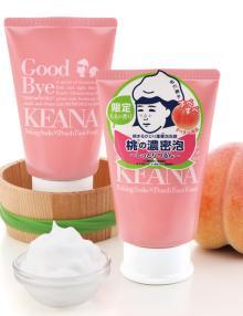 桃の香りの限定品!重曹の効果で、乾燥毛穴ケアができる濃密泡の洗顔料│石澤研究所