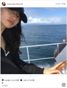 戸田恵梨香、オフ満喫? 真っ青な海にダイビングウェア姿披露