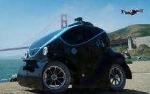 不法侵入すると、ドローンとロボットカーが追いかけてくる!…警備ロボット「O-R3」