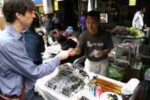 ニューヨークでは手巻き寿司が人気です / そもそも寿司が大人気です