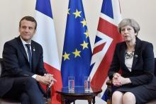 テロ対策に全力=英仏首脳が会談-G7サミット