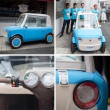 近未来の電気自動車? やわらか布製ボディの新型モビリティ