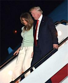米大統領が帰国