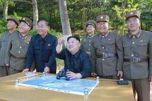 新型迎撃ミサイルの試射「成功」=金正恩氏、量産・配備指示-北朝鮮