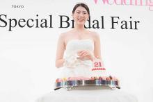 三吉彩花、人生初のウエディングドレスに感激 21歳のバースデー祝福のサプライズに涙
